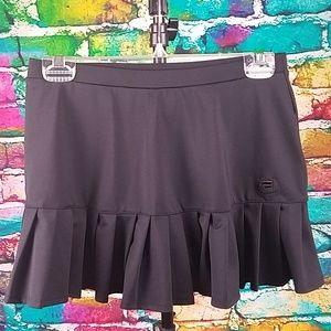 FILA Black Tennis Skirt Athletic Workout Skorts